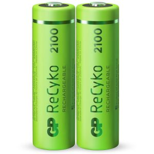 GP Batteries AA batterij Oplaadbaar GP NiMH 2100 mAh ReCyko 1,2V, 2 stuks oplaadbare batterij