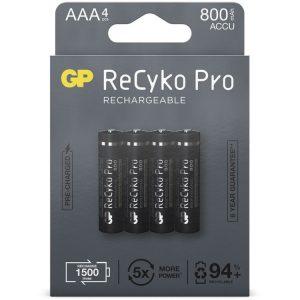 GP Batteries AAA batterij Oplaadbaar NiMH 800 mAh ReCyko Pro 1,2V 4 stuks oplaadbare batterij