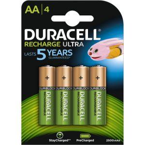 Duracell Recharge Ultra AA batterijen, 4 stuks oplaadbare batterij