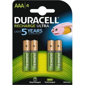 Duracell Recharge Ultra AAA-batterijen, 4 stuks oplaadbare batterij