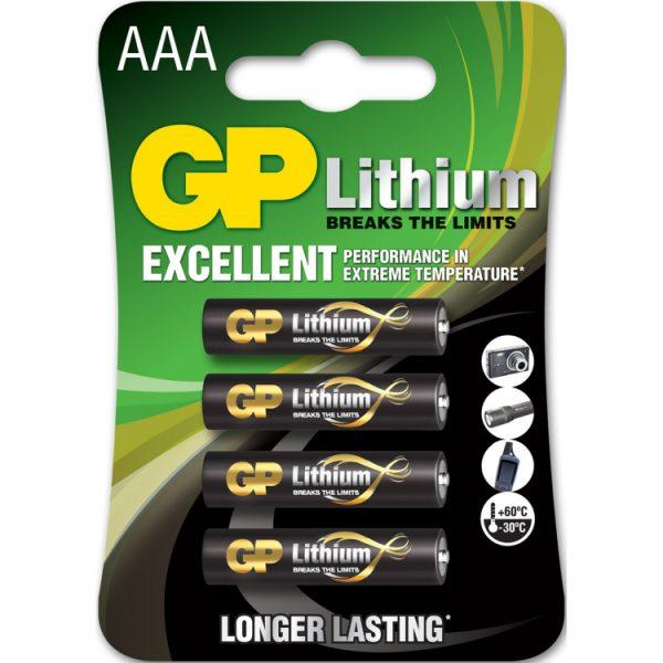 GP Batteries Primary Lithium AAA - 4 batterijen