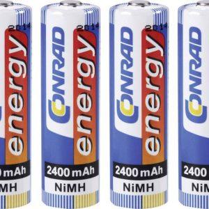 Conrad energy HR06 Oplaadbare AA batterij (penlite) NiMH 2400 mAh 1.2 V 4 stuk(s)